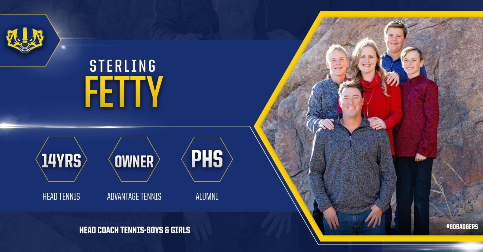 Athletic Staff Up Close-Head Coach Sterling Fetty (Tennis)