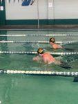 PHS Boys Swim Team had a hard fought battle against Mingus!