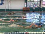 PHS Girls Swim Team had a hard fought battle against Mingus!