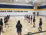 Prescott Girls Varsity Badminton beats Saguaro 9 – 0