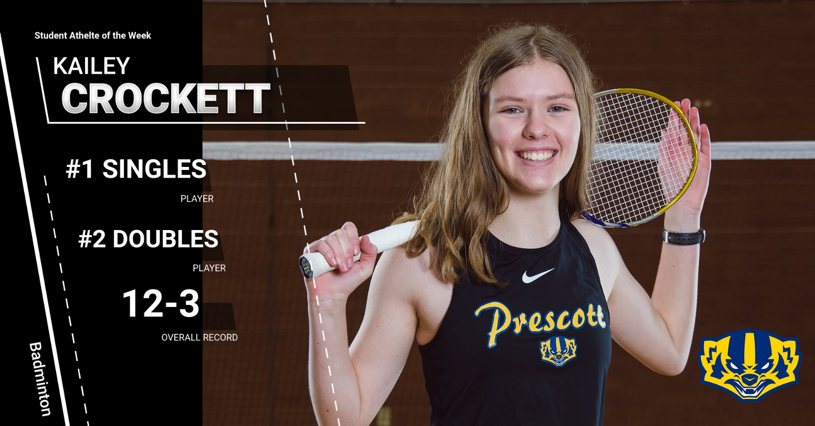 Student Athlete of the Week-Kailey Crockett (Badminton)