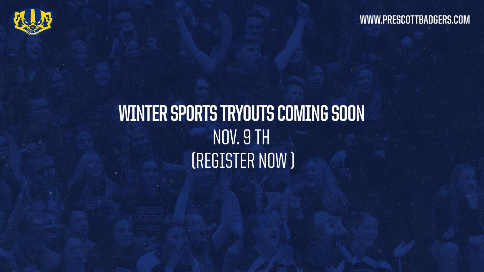 Winter Sport Tryouts-FAST APPROACHING