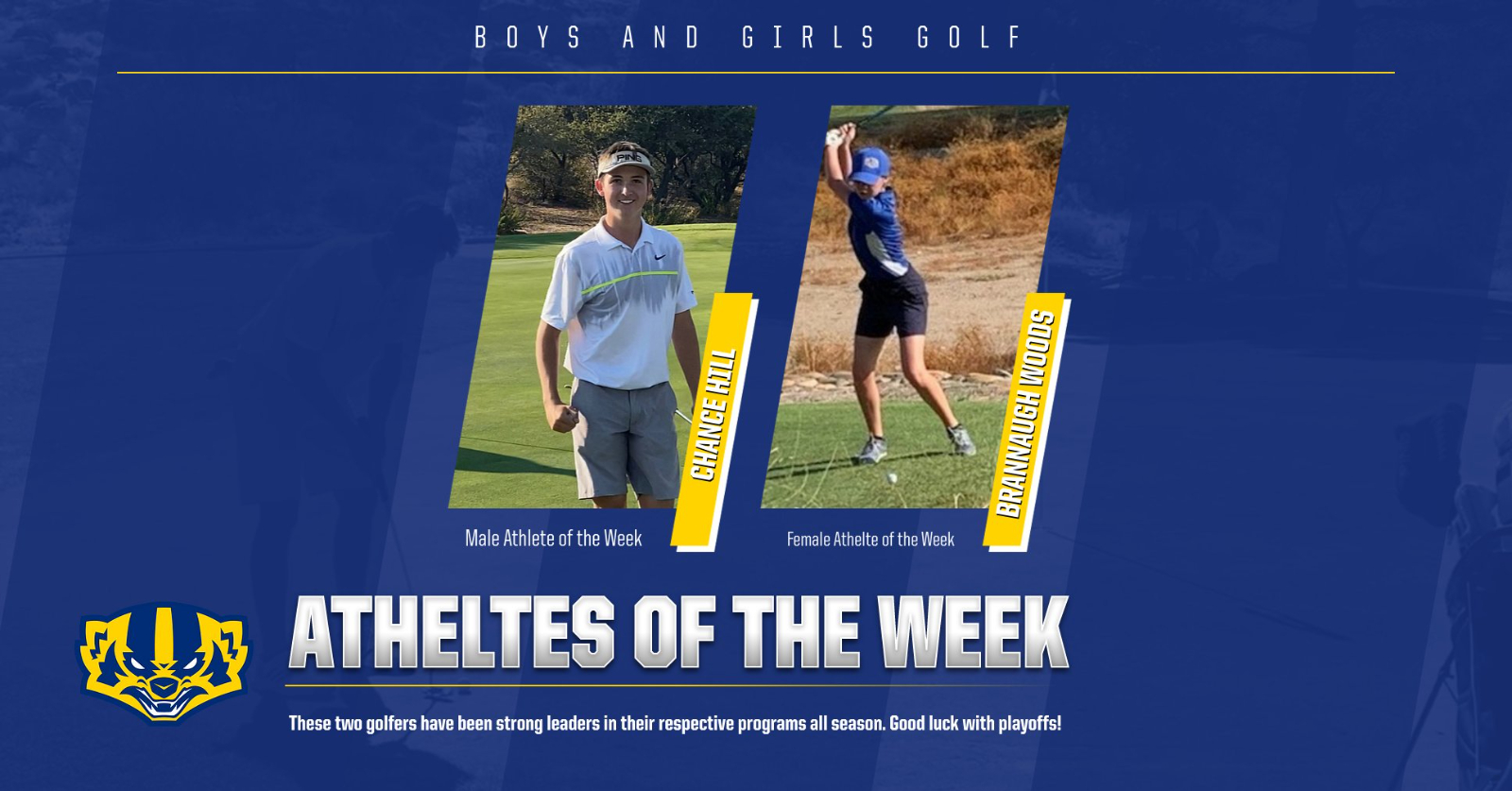 Athletes of the Week-Chance Hill & Brannaugh Woods (Golf)