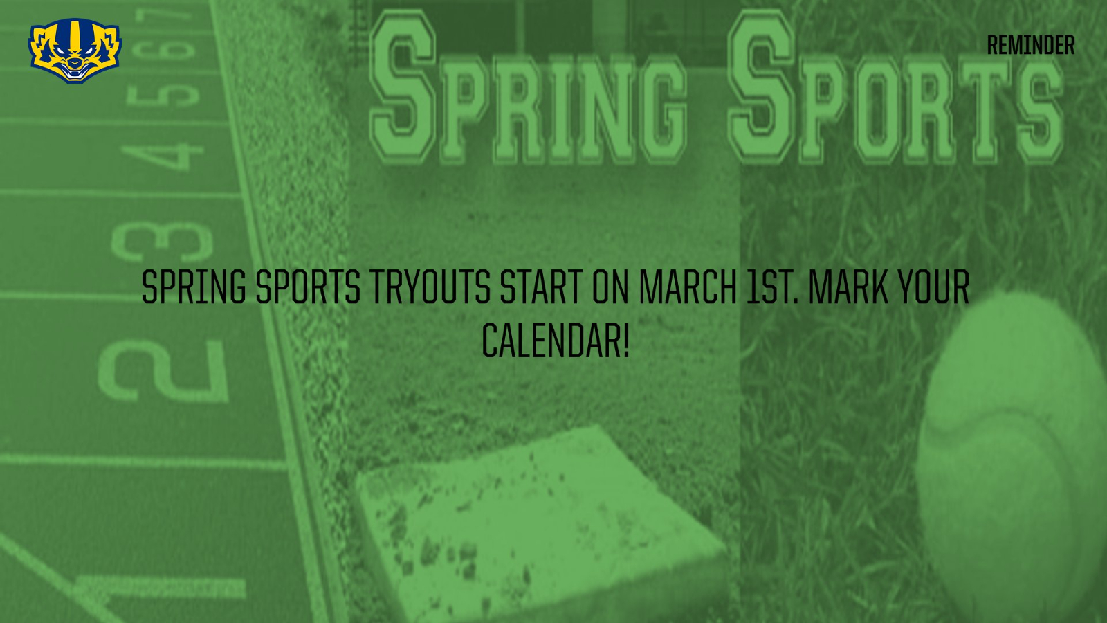 Spring Sports Registration and Clearance