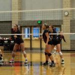 Clackamas High School Girls Varsity Volleyball beat Oregon City High School 3-0