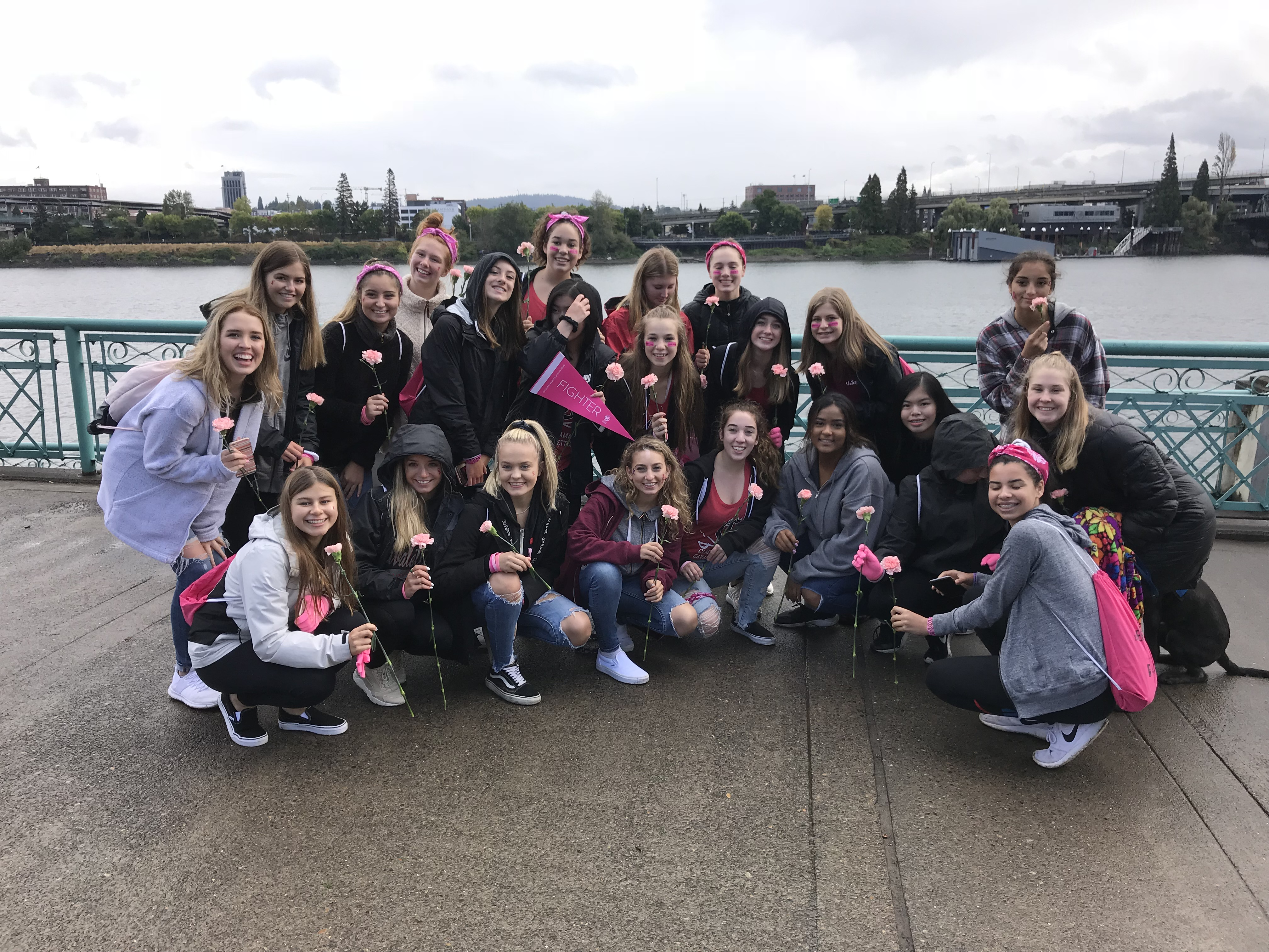 Clackamas Dance Team Volunteers at Race for the Cure