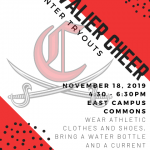 Cheer Winter Tryouts – November 18, 2019
