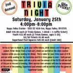 Softball Trivia Night –  January 25, 2020