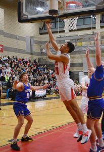 Boys Varsity Basketball Photos vs. Sam Barlow (photos by Steven Huey)