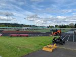 Day 1 work on the new turf and track