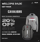 Sideline store is open.  Get your Cavalier Gear!