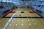Clackamas Gym Floor ready for action (Hopefully)(pictures taken by Steve Freimark)