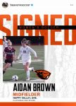 Aidan Brown signs with Oregon State University to play Soccer