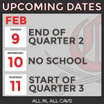 February Upcoming Dates for CHS