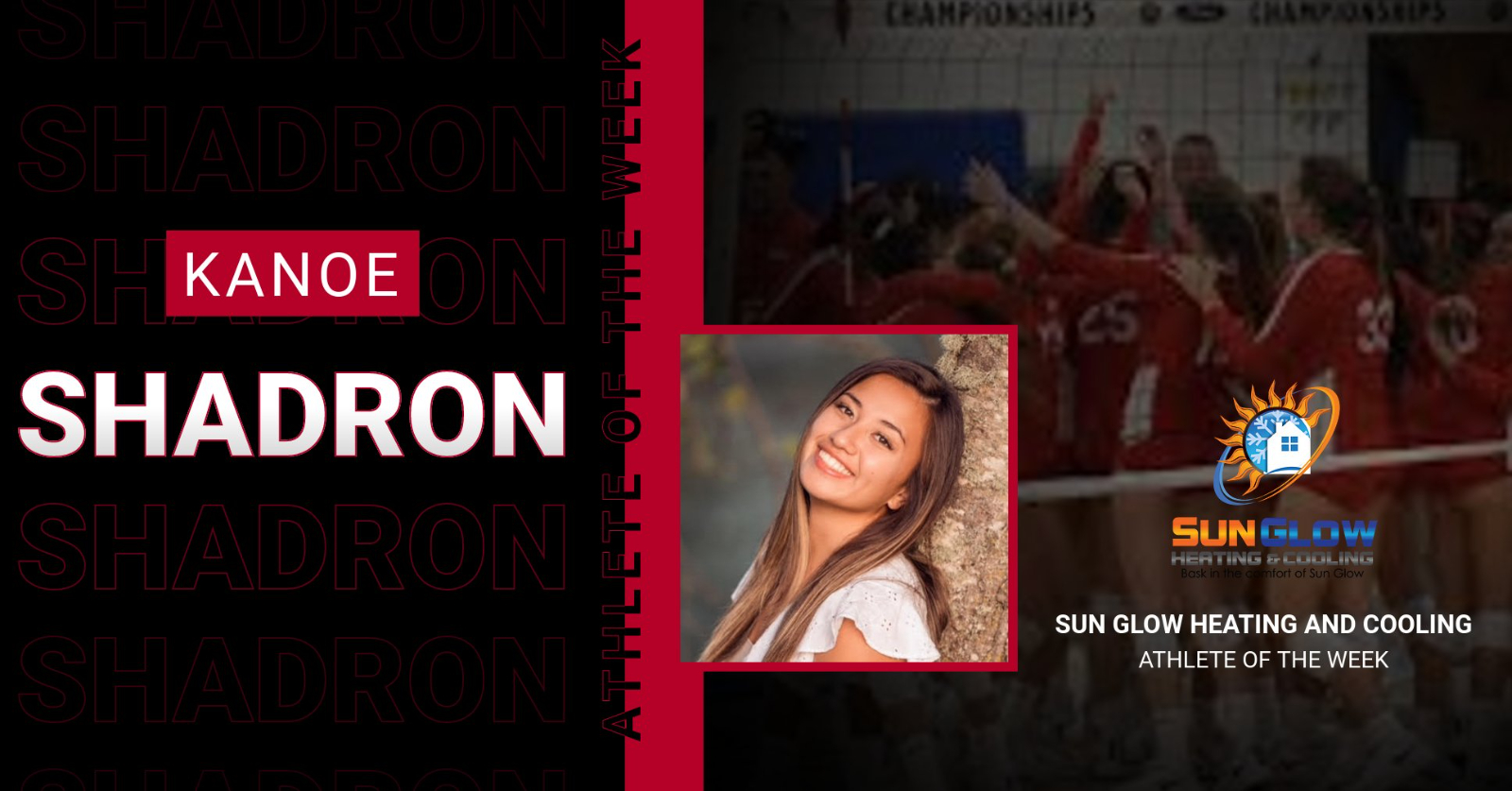 Sun Glow Heating and Air Conditioning Athlete of the Week  2/14-2/20/21