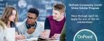OnPoint Community Credit Union Scholar Program – Scholarship!!