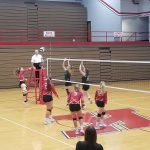 Lady Redskins Varsity Volleyball hosted the LaCrosse Lady Tigers - Scrimmage