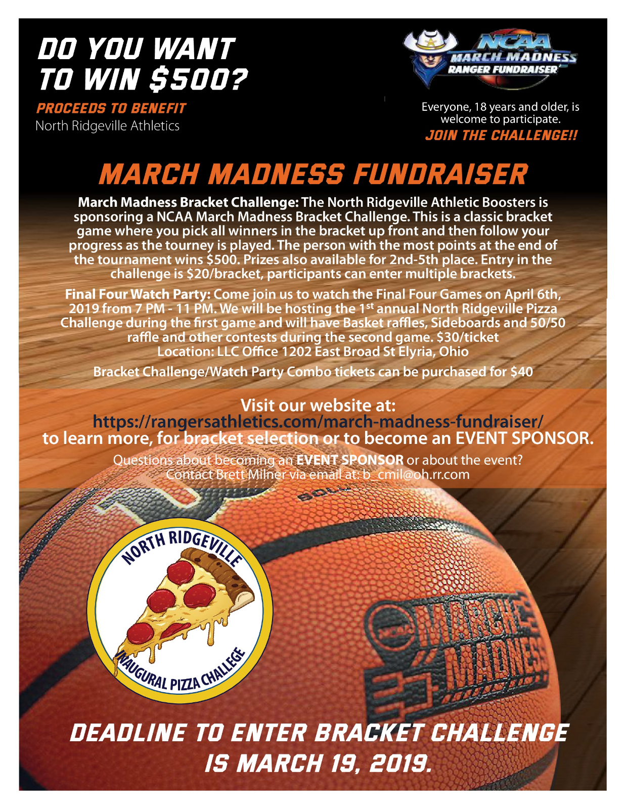 ATHLETIC BOOSTERS MARCH MADNESS FUNDRAISER