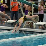 Girls Swimming 200 Free Relay Breaks School Record