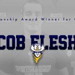 Sportsmanship Award Winner for the Month of October – Jacob Flesher