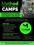 Method Sports – FREE session at Speed/Strength camps that happen every Saturday