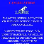 CANCELLATIONS-MAY 8