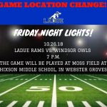 VARSITY FOOTBALL-LADUE VS. WINDSOR-OCT. 26
