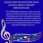 LHWHS BAND CONCERT-LIVE STREAM AVAILABLE