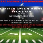 State Championship Football Game-Live Broadcast & Streaming-Nov. 30