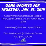 Game Updates for Thursday, Jan. 31
