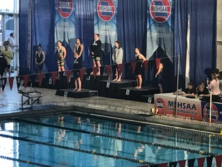 Paige Mitchell Wins Two Events at Girls Swim/Dive State Championship