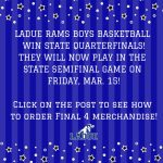 LADUE BOYS BASKETBALL WIN QUARTERFINALS! GET YOUR APPAREL!