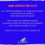 Game Updates for Thursday, April 4