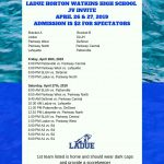 LADUE JV INVITATIONAL-APR. 26 & 27