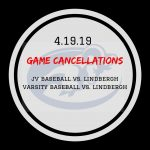Game Cancellations-Apr. 19