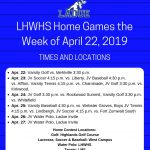 Home Games the Week of April 22