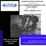 Summer Weight Training-Mark Your Calendars!