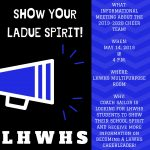 LHWHS Cheerleading Informational Meeting!