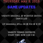 Game Updates – May 9