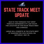 STATE TRACK MEET UPDATE!!