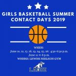 LHWHS Girls Basketball Summer Contact Days!