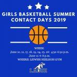 LHWHS Girls Basketball Summer Contact Days!