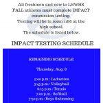 Mandatory Impact Testing–UPDATE–AUG. 8