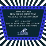 GET YOUR FOOTBALL THEME NIGHT SPIRIT WEAR HERE! ORDER BY AUG. 21!