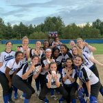 Ladue JV Softball scores first win over Hancock with a walk off hit!