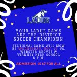 SOCCER SECTIONAL GAME-DATE CHANGE!