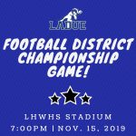 FOOTBALL DISTRICT CHAMPIONSHIP GAME-Nov. 15