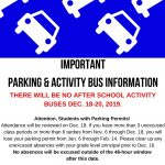 Important Activity Bus and Parking Information!