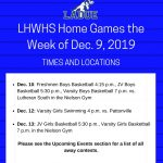 LHWHS Home Games-Week of Dec. 9