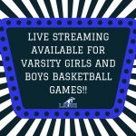 LIVE STREAM HOME VARSITY BASKETBALL GAMES!